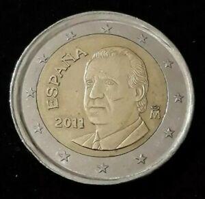 Monnaie 2 Euro Espagne 2011 Roue de wagon Erreur faute fautée (70)
