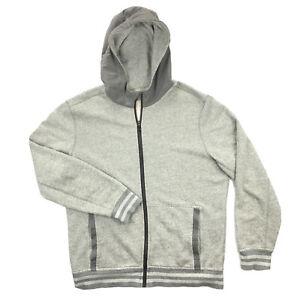 Lululemon Mens XL Gray Full Zip Hooded Track Jacket Hoodie Athletic