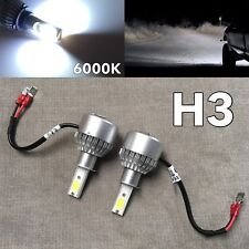 FOG LIGHTS 36W X2 3800LM LED H3 bulbs HIGH POWER COB 6000K white FOR INFINITI