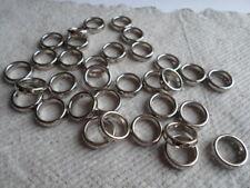 75 ~ Acryl ~ Silber überzogene Ringe ~ 15mm mit 1mm-Loch