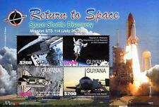 GUYANA 2006 RETURN to SPACE = SHUTTLE DISCOVERY M/S of 4 MNH postfrisch CV$9.33