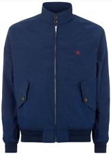 New Mens Hackett London Harry Classic Harrington Jacket Coat Navy Size M RRP£195