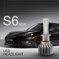 1 par S6 H1 6000K 60W 7600LM Bombillas Faro LED de coche Luz de niebla G6D2
