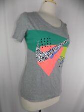 Nike women's Athletic Cut Running Tennis Shirt Gray Swoosh S/S Sz Medium
