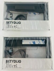 Ikea Betydlig Curtain Rod Holder Bracket Gray Adjustable 2 Count Wall or Ceiling