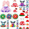 Kids Girls Tutu Christmas Party Dance Ballet Toddler Costume Skirt+Bow Hairpin