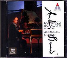 Andreas STAIER Signiert SCARLATTI Harpsichord Sonata TELDEC CD Cembalo Sonaten