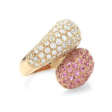 Leo Pizzo Pink Sapphire and Diamond Ring in 18K Rose Gold   FJ