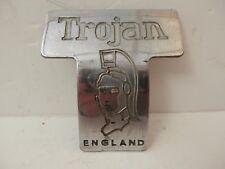 Original Trojan Car Badge. Curved Metal.