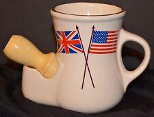 VTG Lego Shaving Scuttle Mug & Erskine Shaving Brush EUC British American Flags