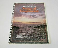 Spiral Book 100 Favorite Songs of Inspiration by Rode Heaver Sheet music 1976