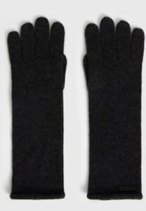 All saints gloves Self Rolled Edge Glo Charcoal Wool/cashmere