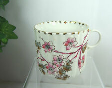 Antique Vintage Made Germany Bone China Ribbed Numbered Japonica Quince Tea Cup