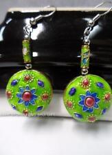 12x Wholesale Chinese Japanese Oriental Enamel Cloisonne Floral Bead Earring