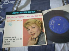 """a941981 Patti Page Golden Hits Japan 7"""" EP"""
