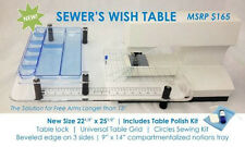 "Sew Steady Sewer's Wish Table 22-1/2""x 25-1/2"" w/ Notions Tray"