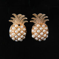 Women Pearls Pineapple Ear Stud Gift Fashion Jewelry Stud Earrings