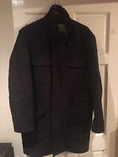 Mens Rocha John Rocha Winter Wool long Winter Coat jacket brown XXL