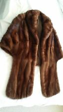 100% Genuine Mink Fur Shawl Women Winter Vintage mink stole Retail  $1,495