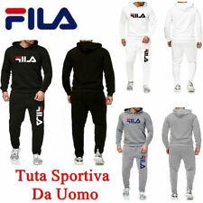 FILA Uomo Pantaloni Da Giacca Tuta Sportiva Fitness Cappuccio Sweatshirt IT