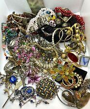 Huge Mixed Job Lot of 63 Pieces of Vintage Costume Jewellery - NOT SCRAP -RESALE