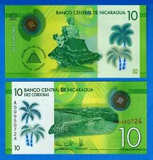 Nicaragua P-208 10 Cordobas Year 2014 Uncirculated Banknote
