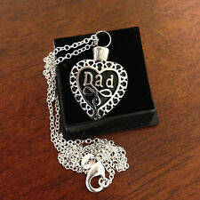 """Memorial Cremation Jewellery/Pendant/Urn/Keepsake for Ashes-""""Dad"""""""