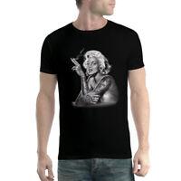 Marilyn Monroe Smoking Tattoo Men T-shirt XS-5XL
