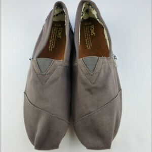 TOMS Mens Classic Canvas Slip On Shoes Gray (Ash) Sizes 10, 11.5