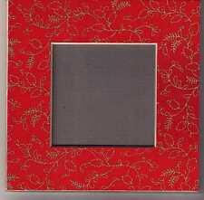 Kreuzstich: acufactum  Passepartout Leinen auf Karton  15 x 15 cm  rot