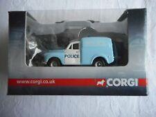 "Corgi Trackside Morris Van light blue/white 1:76 ""Police"" + box"