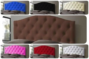 "Dewsbury Button Bed Headboard Faux Leather Single Double King SK Height 26"" ,30"""