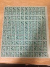 1c Four Freedoms 1943 Scott #908 Full Sheet of 100, Free Shipping