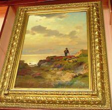 Künstlerische auf Leinwand im Romantik-Stil als Original der Zeit