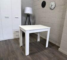 Small Extending Dining Table Ideal For Caravans In White Colour