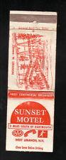 Sunset Motel--Matchbook Cover--West Lebanon, New Hampshire