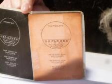 Antique TABLETS Pot Box Sheldons Chemist Southport Birkdale Label Plate #110