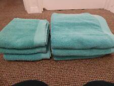 GEORGE, 3 BATH TOWELS & 3 HAND TOWELS COLOUR GREEN