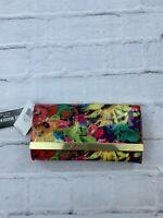 NEW Steve Madden Women's Clutch Bag Floral Envelope Sling Gold Chain Plated