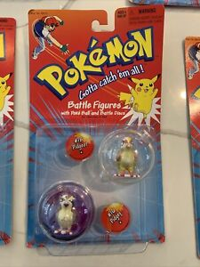 Pokemon Battle Figures 2 Balls Per Pack Factory Sealed 1999 FUN Pidgey Pidgetto