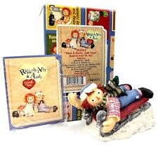 Raggedy Ann & Andy Have A Happy Jolly Time 598457 Raggedy Andy On Sled Enesco