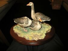 More details for border fine arts porcelain figurine, greylag geese, by ray ayres,ltd edition vgc