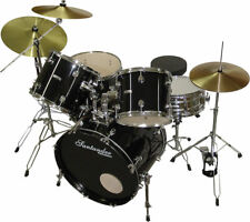 Schlagzeug Set 9-teilig, komplett mit Beckensatz, Kesseln, Ständern, Hocker, BK