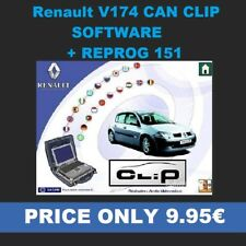 For Renault V174 CAN Clip software + Reprog 151 Downloadable version