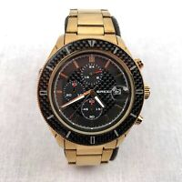 Breed Men's Wrist Watch Quartz Black Gold Stainless Steel Strap Analogue BRD7502