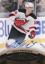 Adam Henrique 15/16 Upper Deck Overtime GOLD Autograph