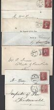 Uk Gb 1860s 70s Collection Of 5 Neat Duplex Town Cancels All Diff Towns Franked