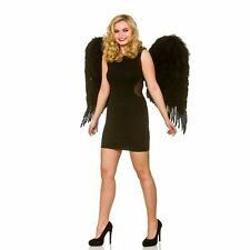 Deluxe Large Black Feather Wings Womens Ladies Fancy Dress Costume Accessory