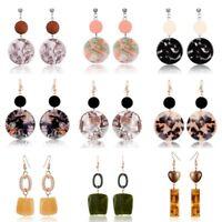 Fashion Elegant Round Ear Stud Hook Drop Dangle Earrings Women Jewelry