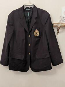 Lauren Ralph Lauren Crest Black Blazer Jacket  20W